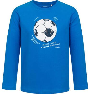 Endo - T-shirt z długim rękawem dla chłopca, z piłką nożną, niebieski, 2-8 lat C05G191_1 12