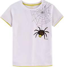 T-shirt z kontrastowym wykończeniem dla chłopca 9-13 lat C71G662_1