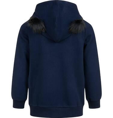 Endo - Rozpinana bluza z kapturem dla dziewczynki, puchate uszy, 2-8 lat D04C025_1 7