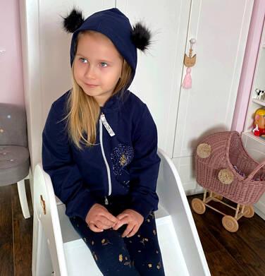 Endo - Rozpinana bluza z kapturem dla dziewczynki, puchate uszy, 2-8 lat D04C025_1 11