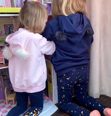 Endo - Rozpinana bluza z kapturem dla dziewczynki, puchate uszy, 2-8 lat D04C025_1,4