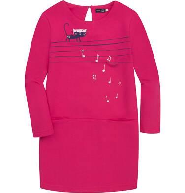 Ciepła sukienka odcinana na linii bioder dla dziewczynki 9-13 lat D72H552_1