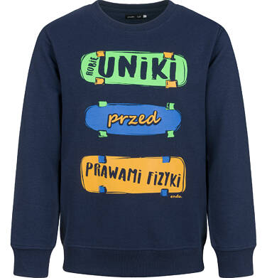 Endo - Bluza dla chłopca, granatowa, 4-8 lat C03C033_1 40