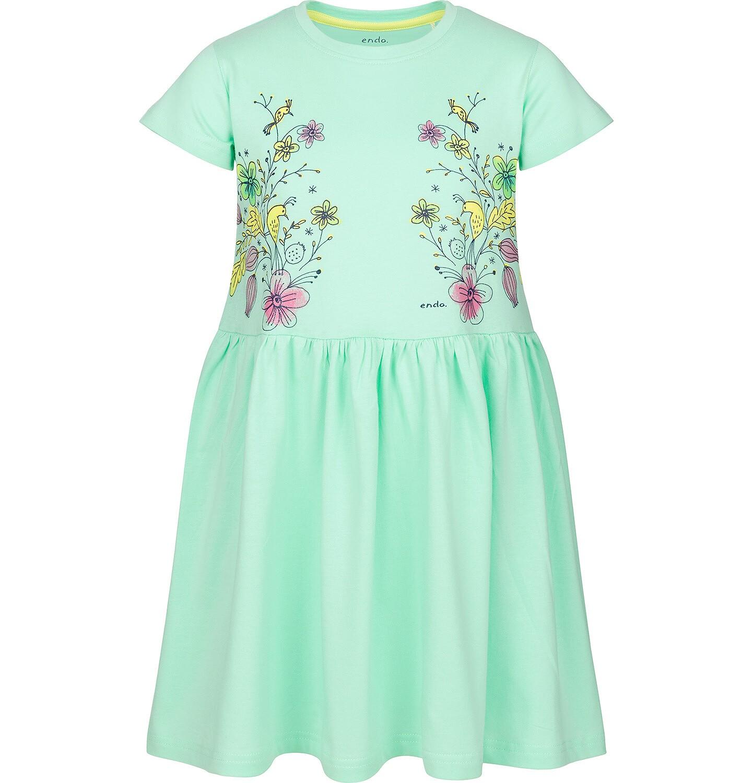 Endo - Sukienka z krótkim rękawem dla dziewczynki 3-8 lat D91H042_1