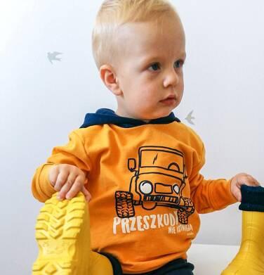 Endo - Bluza z kapturem dla chłopca, musztardowa, 2-8 lat C03C034_1 7