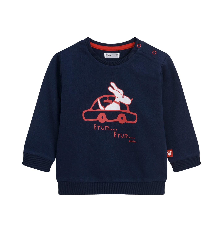 Endo - Bluza dla dziecka do 2 lat, z samochodem, czerwona N04C029_1