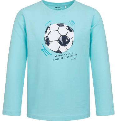 Endo - T-shirt z długim rękawem dla chłopca, z piłką nożną, niebieski, 2-8 lat C05G197_1 10