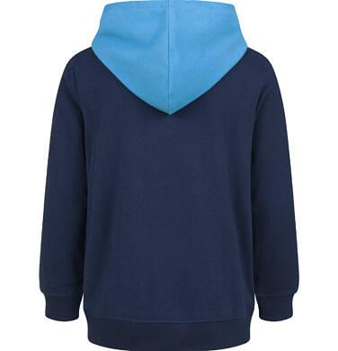 Endo - Bluza z kapturem dla chłopca, z dinozaurem, granatowa, 2-8 lat C03C035_1,2
