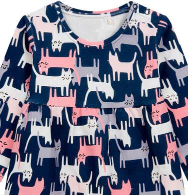Endo - Sukienka dla dziecka do 2lat, deseń w koty N04H002_1 32