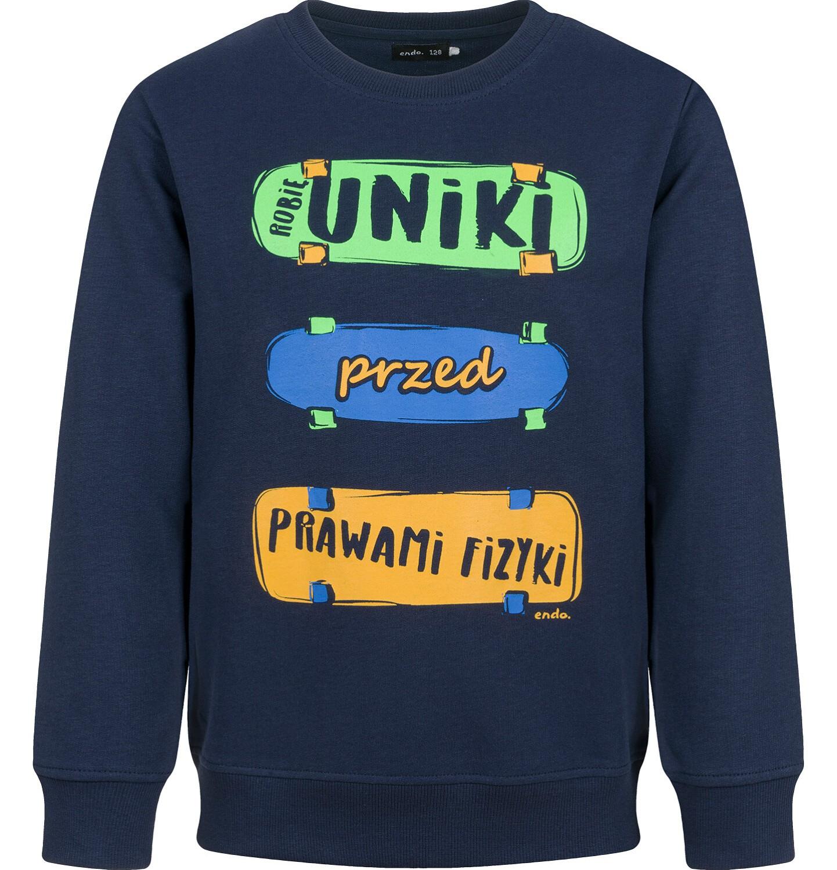Endo - Bluza dla chłopca, granatowa, 9-13 lat C03C533_1