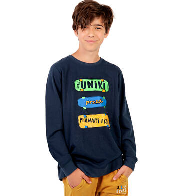Endo - Bluza dla chłopca, granatowa, 9-13 lat C03C533_1,2