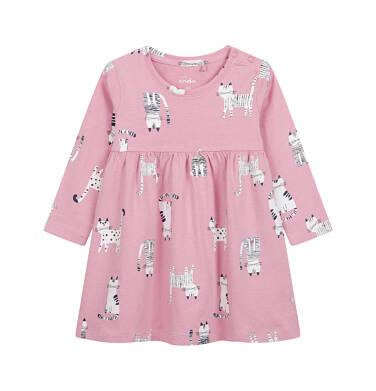 Endo - Sukienka dla dziecka do 2 lat, deseń w koty, różowa N04H017_1 3
