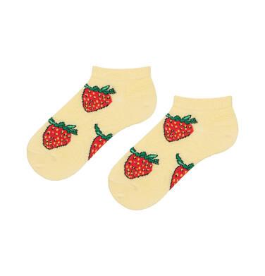 Endo - Kolorowe skarpetki stopki dziecięce w truskawki D06P001_1 6