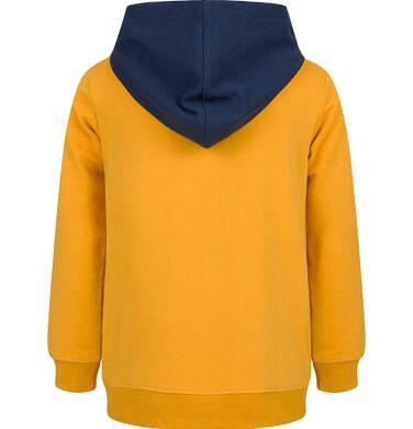 Endo - Bluza z kapturem dla chłopca, musztardowa, 9-13 lat C03C534_1,3