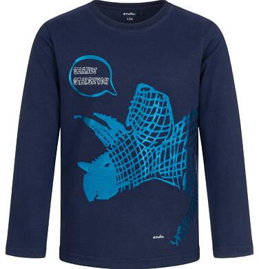 Endo - T-shirt z długim rękawem dla chłopca, z dinozaurem, granatowy, 9-13 lat C04G149_2 21