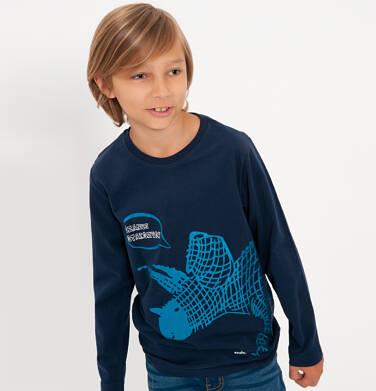 Endo - T-shirt z długim rękawem dla chłopca, z dinozaurem, granatowy, 9-13 lat C04G149_2 31