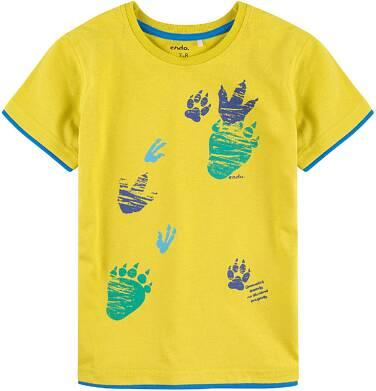 Endo - T-shirt z kontrastowym wykończeniem dla chłopca 9-13 lat C71G658_1