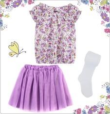 Zestaw dla małej dziewczynki z pokazu Laury Łącz LL_01_MD