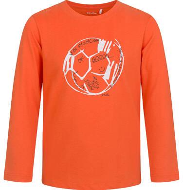 Endo - T-shirt z długim rękawem dla chłopca, z piłką, pomarańczowy, 2-8 lat C03G183_1,1