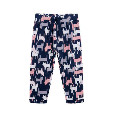 Endo - Spodnie dresowe dla dziecka do 2 lat, różowe N04K031_1 27