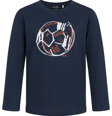 Endo - T-shirt z długim rękawem dla chłopca, z piłką, granatowy, 2-8 lat C03G183_2 73