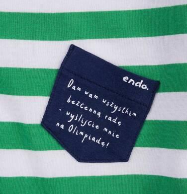 Endo - T-shirt z kontrastowym wykończeniem dla chłopca 4-8 lat C71G085_1