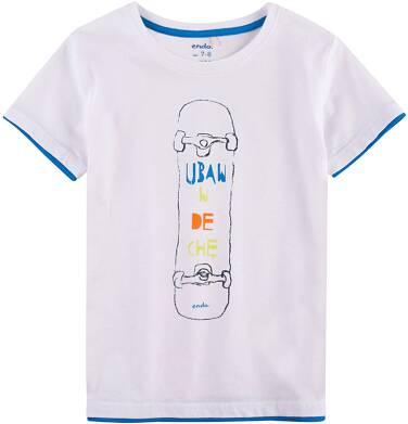 Endo - T-shirt z kontrastowym wykończeniem dla chłopca 9-13 lat C71G629_1