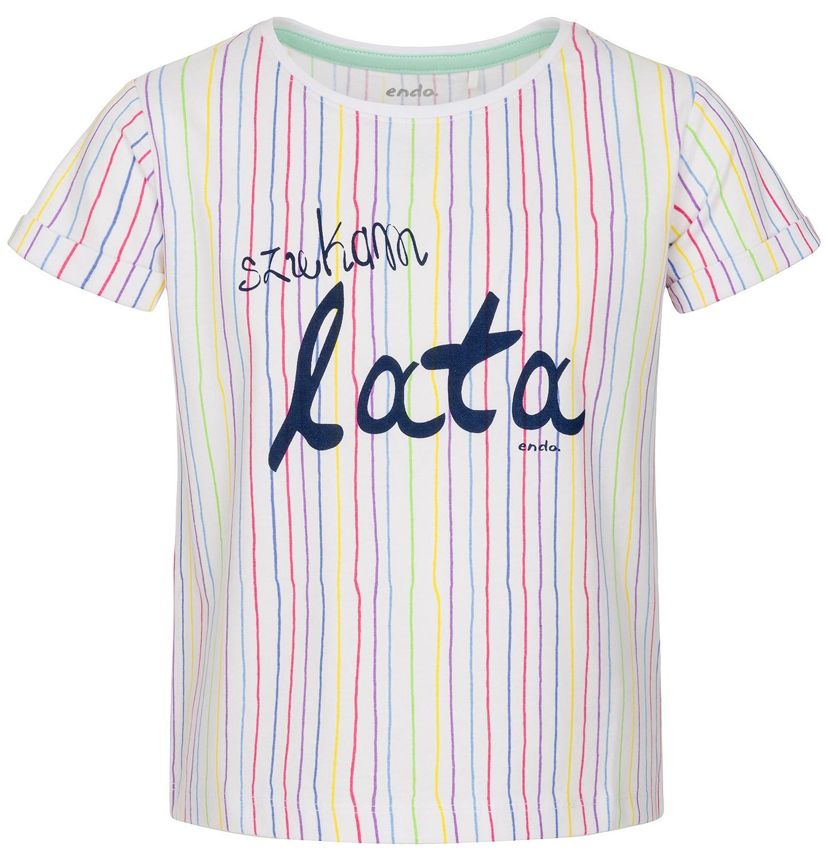 Endo - Bluzka z krótkim rękawem dla dziewczynki 3-8 lat D91G001_1