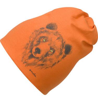 Endo - Czapka dla dziecka, pomarańczowa C04R018_1 9