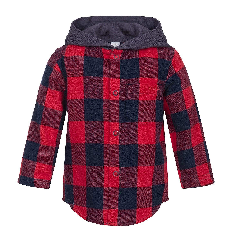 Endo - Koszula flanelowa z kapturem dla dziecka 0-3 lata N82F002_1