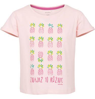 T-shirt z krótkim rękawem dla dziewczynki 9-13 lat D91G518_1
