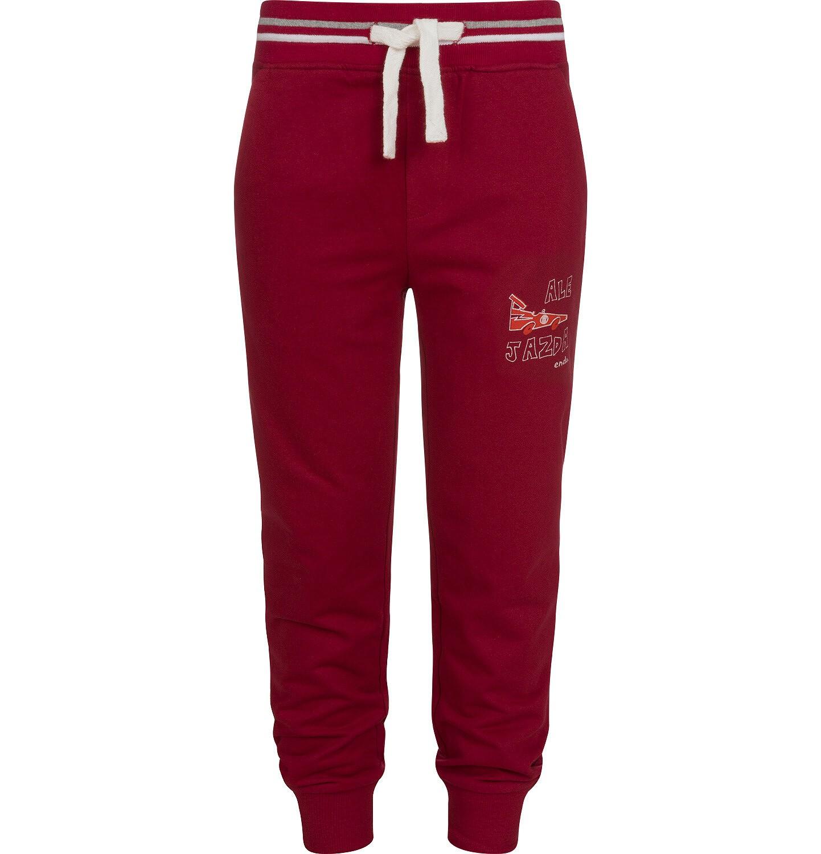 Endo - Spodnie dresowe dla chłopca, bordowe, 2-8 lat C04K024_1
