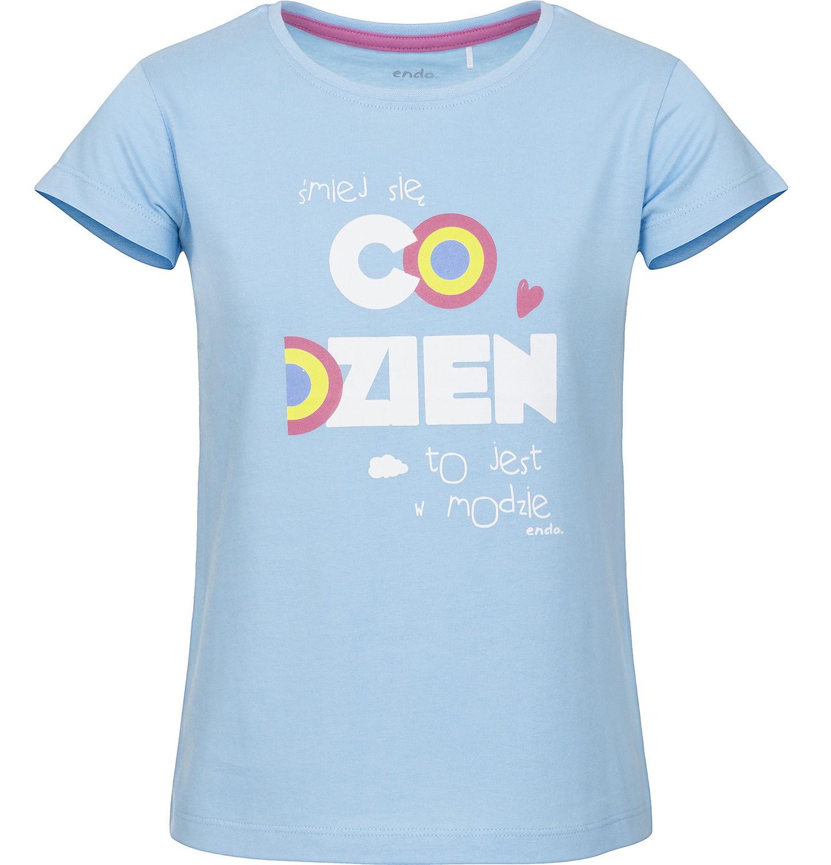 Endo - Bluzka z krótkim rękawem dla dziewczynki 3-8 lat D91G006_1