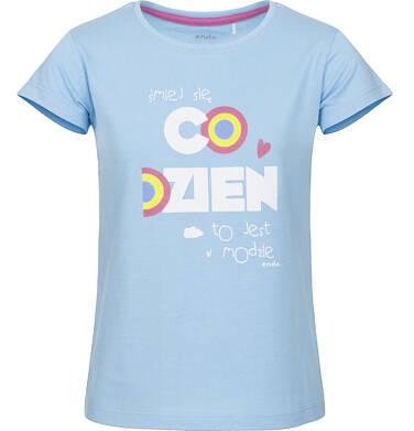 Endo - Bluzka z krótkim rękawem dla dziewczynki 9-13 lat D91G506_1