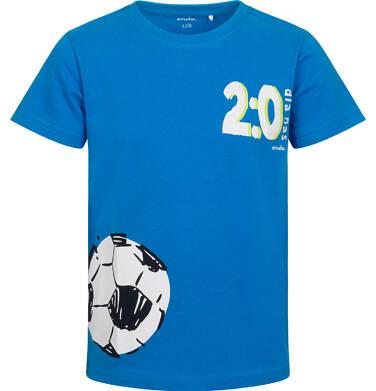 Endo - T-shirt z krótkim rękawem dla chłopca, z motywem piłkarskim, niebieski, 2-8 lat C05G060_1 27