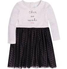 Sukienka z tiulowym dołem i brokatem dla dziecka 2-4 lata N72H003_1