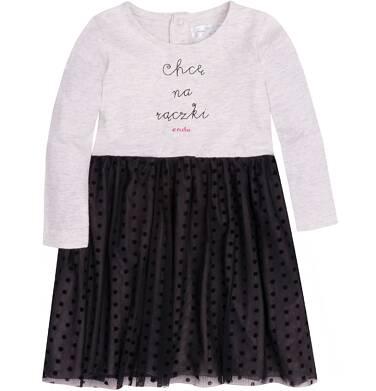 Endo - Sukienka z tiulowym dołem i brokatem dla dziecka 2-4 lata N72H003_1