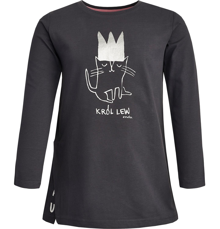 Endo - T-shirt z długim rękawem dla dziewczynki 3-8 lat D82G052_1