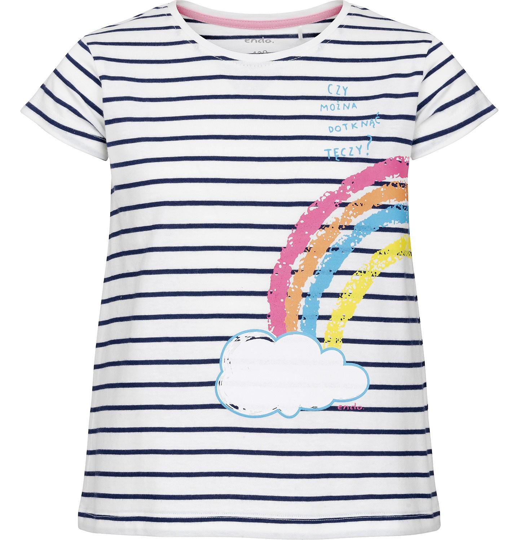 Endo - Bluzka z krótkim rękawem dla dziewczynki 3-8 lat D91G008_1