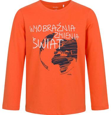 Endo - T-shirt z długim rękawem dla chłopca, pomarańczowy, 5-8 lat C03G191_1 20
