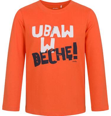 T-shirt z długim rękawem dla chłopca, pomarańczowy, 5-8 lat C03G192_1