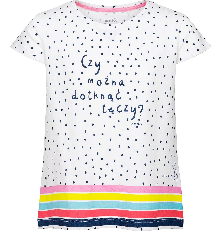 Endo - Bluzka z krótkim rękawem dla dziewczynki 3-8 lat D91G010_1