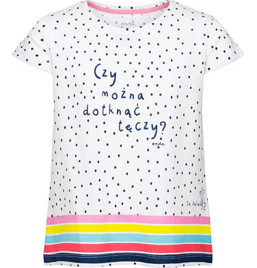 Bluzka z krótkim rękawem dla dziewczynki 3-8 lat D91G010_1