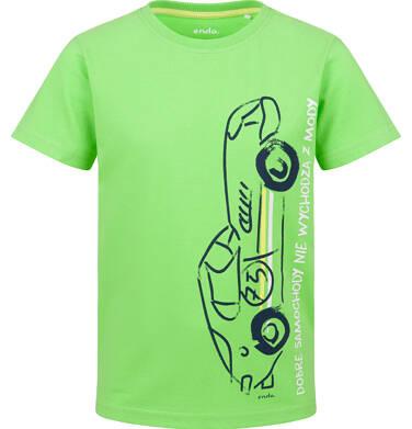 Endo - T-shirt z krótkim rękawem dla chłopca, z samochodem, zielony, 2-8 lat C03G143_1