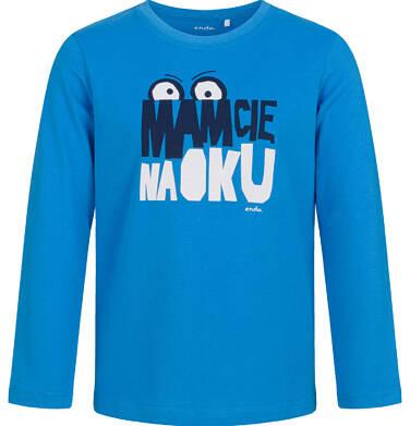 Endo - T-shirt z długim rękawem dla chłopca, mam Cię na oku, niebieski, 5-8 lat C03G193_1 4