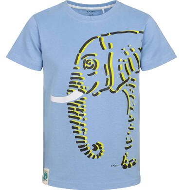 Endo - T-shirt z krótkim rękawem dla chłopca, ze słoniem, niebieski, 2-8 lat C05G081_1 31