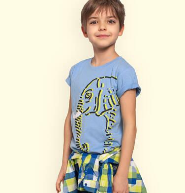 Endo - T-shirt z krótkim rękawem dla chłopca, ze słoniem, niebieski, 2-8 lat C05G081_1 21