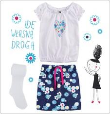 Zestaw dla małej dziewczynki z pokazu Laury Łącz LL_09_MD
