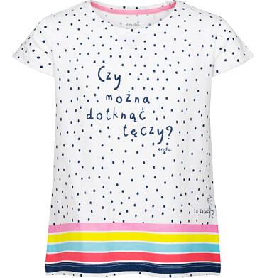 Endo - Bluzka z krótkim rękawem dla dziewczynki 9-13 lat D91G510_1