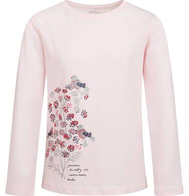Endo - Bluzka z długim rekawem dla dziewczynki, z kwiecistym motywem, różowa, 9-13 lat D04G134_1 121